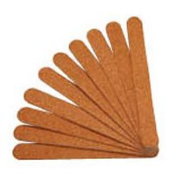 Пилки тонкие на картонной основе (коричневые широкие) Bellitas, 10 шт