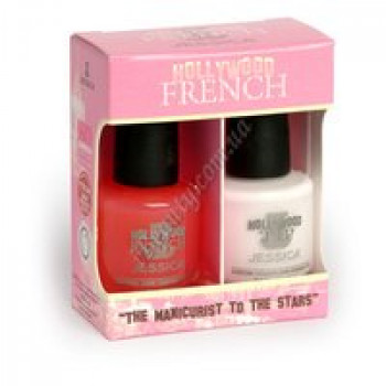 Hollywood RrenchDuetKils-.5oz.Sheer Rose / .5 oz. Chalk White Jessica
