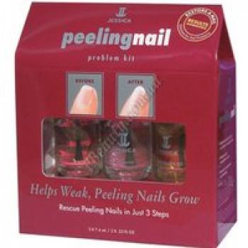Набор для слоящихся ногтей. Fusion+Brilliance+Phenomen Oil (3х7,4мл) - Peeling Nail Kit Jessica, 3 х 7,4 мл