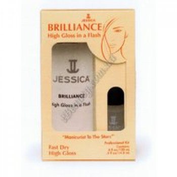 Быстросохнущее покрытие с блеском - Brilliance Jessica, 120 мл и 14,8мл