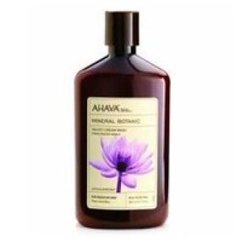 "Мягкий крем для душа ""Лотос и Сладкий каштан"" - Ahava Mineral Botanic Velvet Cream Wash Lotus Flower & Chestnut, 500 ml"