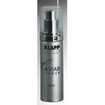 Насыщенный омолаживающий дневной крем с экстрактом черной икры Caviar Power Day от Klapp, 45ml