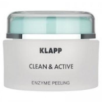Энзимный пилинг - Klapp Clean & Active Enzyme Peeling, 50 мл