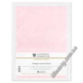 Коллаген с экстрактом красной икры Collagen Fleece Mask Caviar Janssen, 5шт