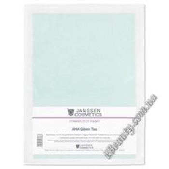 """Маска с АНА кислотами + зеленый чай Collagen """"AHA Green Tea"""" Janssen, 5шт"""