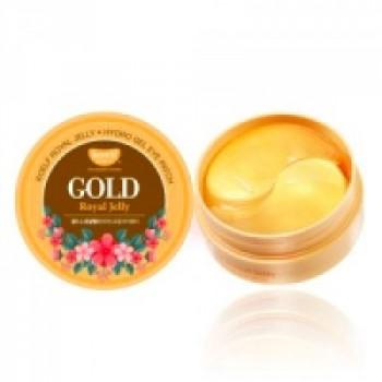 Гидрогелевые патчи для глаз с золотом и маточным молочком Королевское желе  Royal Jelly Eye Patch KOELF 60шт