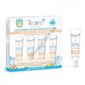 Сенсорный гель для кожи вокруг глаз против темных кругов и мешков с экстрактом иглицы и цекропии  Teana, туба 5мл * 4 шт.