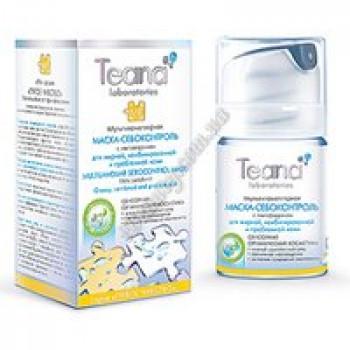 Мультиламеллярная маска- себоконтроль с лактоферрином Teana, диспенсер 50мл