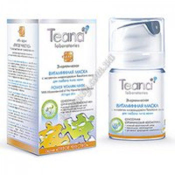 Энергетическая витаминная маска Teana, диспенсер 50мл