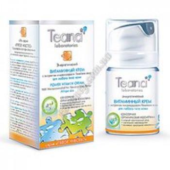 Энергетический витаминный крем с экстрактом микроводоросли Teana, диспенсер 50мл