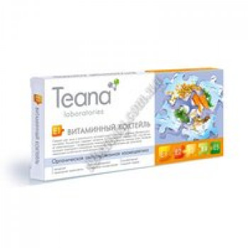 Концентрат «Витаминный коктейль» (А + Е + пантенол) Teana, 10 амп по 2мл