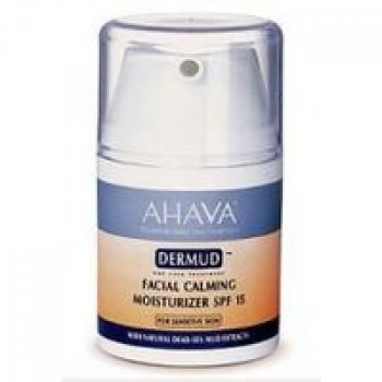 Средство увлажняющее для лица - Ahava Dermud Facial Calming Moisturizer SPF15, 50 ml