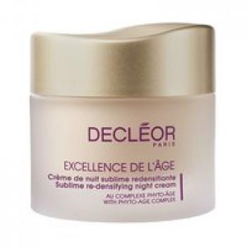 Комплексный ночной антивозрастной крем для лица - Excellence de l'age Creme de nuit sublime redensifiante Decleor, 50 мл