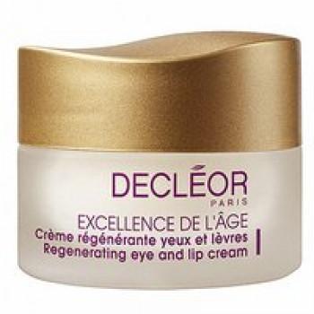 Комплексный антивозрастной крем для контура глаз и губ - Excellence de l'age Creme yeux et levres Decleor, 15 мл