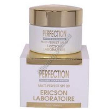 Отбеливающий матирующий крем для комбинированной кожи SPF20 - PERFECTION MATT-PERFECT SPF 20 Ericson, 50 мл