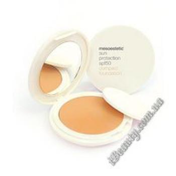 Легкая крем-пудра с SPF 50 № 010 - Sun protection, mesoestetic, 10 гр