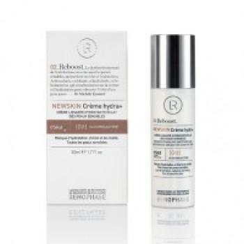 Разглаживающий увлажняющий крем для чувствительной кожи NEWSKIN Creme hydra+ Renophase 50ml