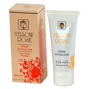 Солнцезащитный крем SPF 15 для всех типов кожи (увлажняет, тонирующий эффект) - Crème Antisolaire SPF 15 Yellow Rose, 50мл