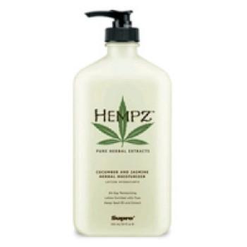 Увлажняющее растительное молочко с огуцом жасмином мини/ Cucumber Jasmine Herbal Moisturizer mini 75ml HEMPZ