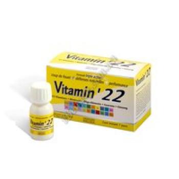 Витамин'22, витаминно-тонизирующий комплекс Effiderm, 7 флаконов-доз
