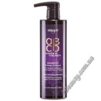 Восстанавливающий шампунь для всех типов волос с маслом Аргана, коллагеном и камелией - ARGABETA Collagen shampoo, DIKSON, 500 мл