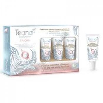SIMONA Сыворотка для восстановления баланса жирных волос и кожи головы с экстрактами центеллы и грецкого ореха Teana, туба 15мл*5шт.