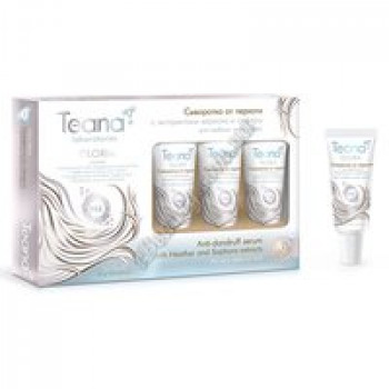 GLORIA Сыворотка от перхоти с экстрактами вереска и софоры для любого типа волос Teana, туба 15мл*5шт.