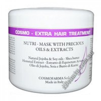 Маска-кондиционер с маслом жожоба, сои и дерева ши Cosmo ExtraHair Treatment (Nutri Mask Conditioner with Jojoba&Soy Oils-Shea butter) , Cosmofarm, 250 ml