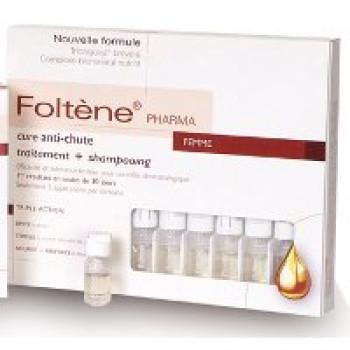 Комплекс для женщин против выпадения волос  (шампунь и лосьон) Foltene, 200 мл + 12 амп. х 8,3 мл
